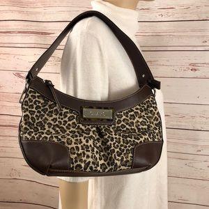 Chaps shoulder bag purse leopard